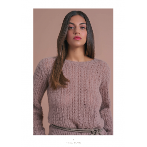 Knitted Brown Blouse