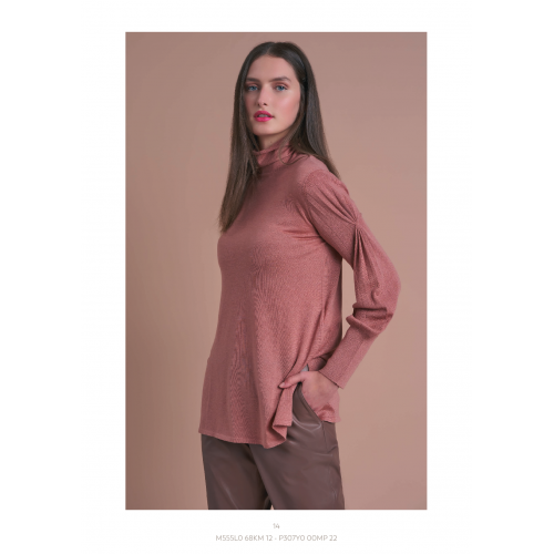 Knitted Blouse with Pattern on the Sleeve