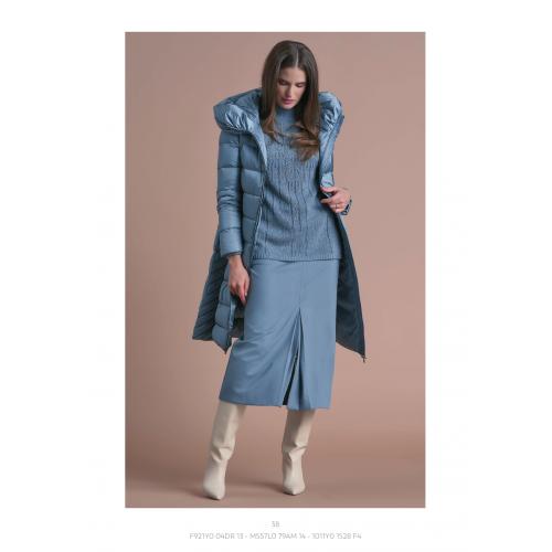 Blue Midi skirt with pleat