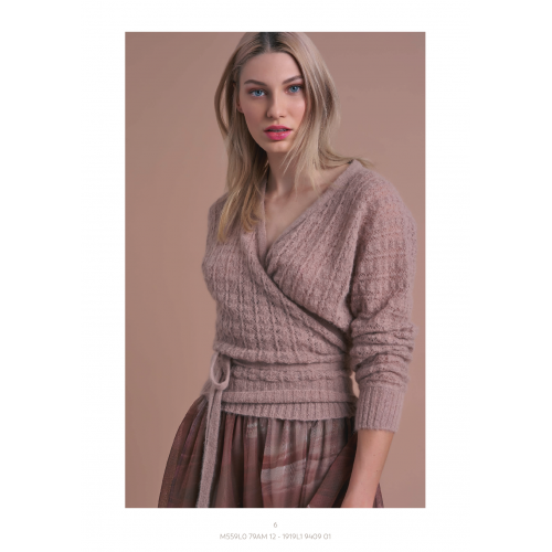 Knitted Wrap Blouse