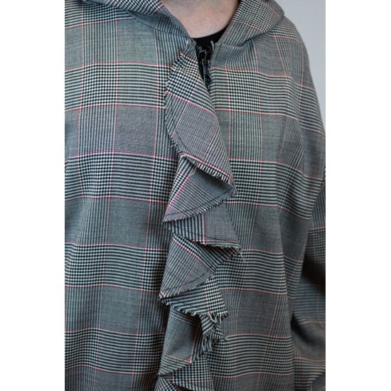 Plaid Jacket with Patterns