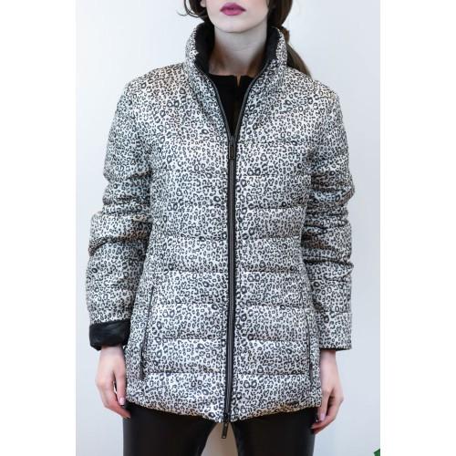 Jacket with Grey Leopard - Black Pattern