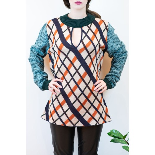 Sweater with Colorful Patterns