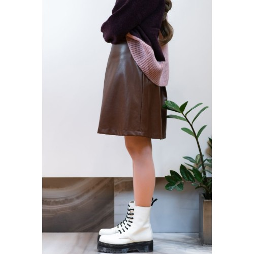 Leather Brown Skirt