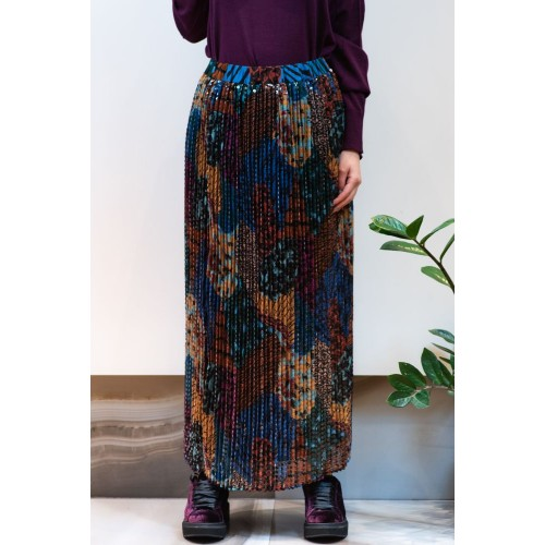 Colorful Skirt with Pleats
