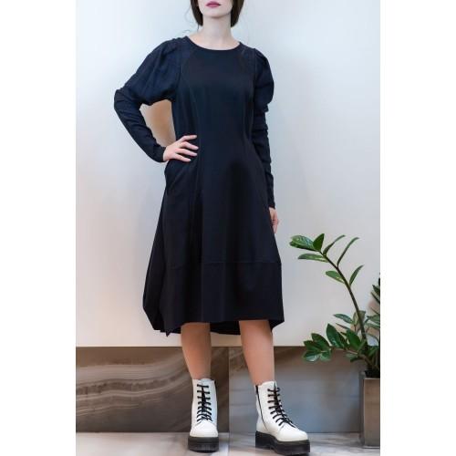 Asymmetrical Blue Dress