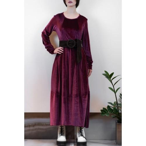 Bordeaux Velvet Dress