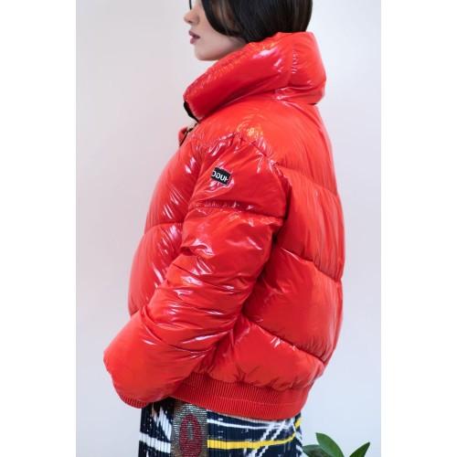Red Metallic Feather Jacket
