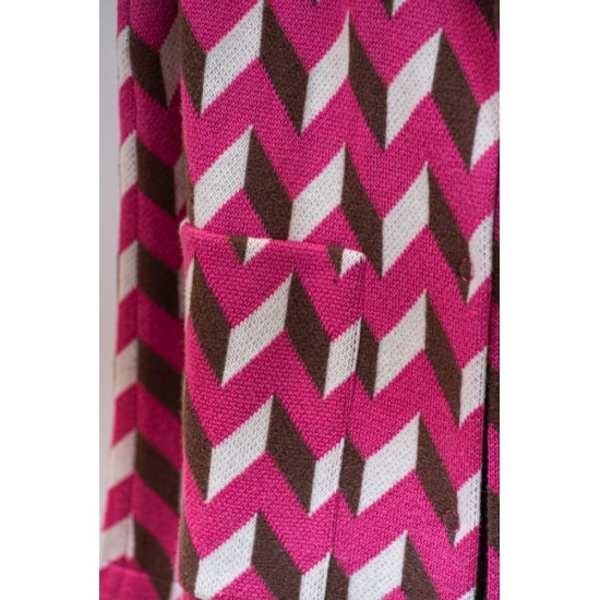 Pink Coat with Patterns