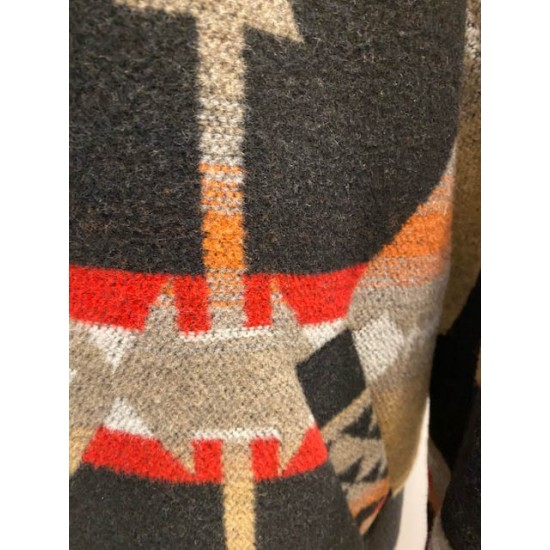 Knitted Coat with Patterns