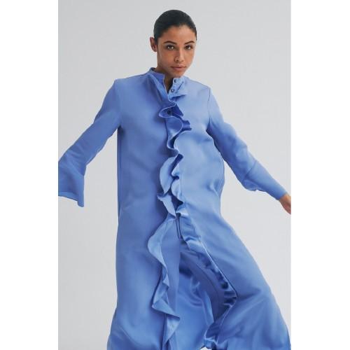 Maxi Blue Dress with Ruffles