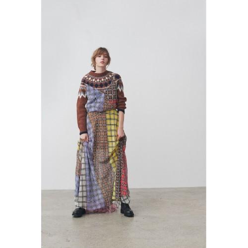 Maxi Colorful Plaid Dress